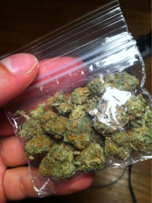 Sample weed pack